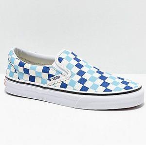 VANS Classic Slip-On Checkerboard Blue Topaz